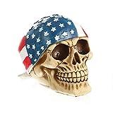 VOANZO Figura de calavera de esqueleto, bandana decoración de calavera humana con esqueleto, estatua realista, modelos de pirata de resina, manualidades