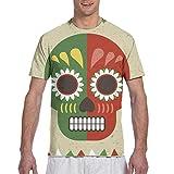 Bikofhd Camiseta grande y alta con diseño de calavera mexicana