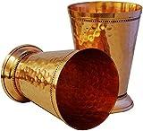 Zap Impex Vasos de cobre Moscú hechos a mano de cobre puro indio Moscú para bebidas, 2 unidades, diseño martillado, 350 ml