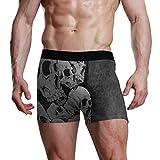 JIRT Calzoncillos Boxer para Hombre Calzoncillos con Estampado de Calaveras Calzoncillos elásticos Transpirables Masculinos Bolsa abultada Calzoncillos Suaves