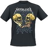 Metallica METTS25MB01 Camiseta, Negro, S para Hombre