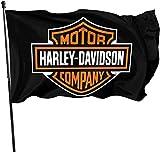 Just Life Bandera de jardín, Harley Davidson Bandera de jardín 3 x 5 Pulgadas Decoración de Patio al Aire Libre.