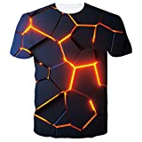 Spreadhoodie Hombres Camiseta 3D Sangre Palma Patrones Impresos O-Cuello Manga Corta Halloween Camiseta Divertidas Negro Rojo T Shirt Tops M