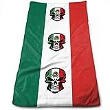 Toalla de maño con diseño de Calavera de la Bandera de México, Lavable a máquina, Toallas de Cocina para secaño, Limpieza de Cocina, horneaño