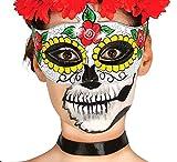 FIESTAS GUIRCA Calaca Media mascarilla Día de los Muertos de la Mujer