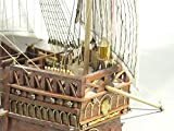 ZNYB Barcos Kit de Modelo de Barco Velero Modelo Educativo Barco clásico de España Expedición de Colón Flota Barcos 1492 Santa María Velero Maqueta de Madera SC