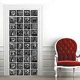 XKSJWY Papel Pintado Puerta Mural Calavera De Halloween 90X200Cm Adhesivo Puerta 3D Door Stickers Autoadhesivo Vinilo Etiqueta De La Pared Arte Calcomanía Dormitorio Baño Cocina Decoración