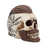 Nemesis Now Ragnar Skull - Figura Decorativa (Resina, 16 cm), Color Marfil
