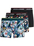 Jack & Jones JACFUNNY Skulls Trunks 3 Pack Bxer, Negro, XXL para Hombre