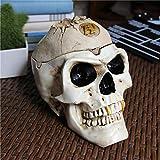 HZIH Cenicero Tribal con diseño de cráneo con Tapa Cenicero Espeluznante y Espeluznante en Forma de Calavera para Diferentes Ocasiones