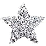 3 pezzi di moda crystal star cerotti con strass ricamato sul cerotto adesivo per abbigliamento distintivo pasta vestiti borsa pantaloni