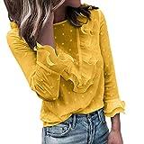 SHOBDW Camiseta sin Mangas con Cuello en V Floja para Mujer Camiseta Tops con Capucha Camiseta de Manga Larga otoñal del Invierno(Verde,S)