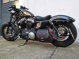 HD Sporty Skull Black Harley Davidson - Bolsa de Deporte con diseño de Calavera y Texto Forty Eight Lowrider Hugger XL 1200 48 883, Color Negro