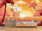 Fotomural Vinilo para Pared Carabela Colon | Fotomural para Paredes | Mural | Vinilo Decorativo | Varias Medidas 350 x 250 cm | Decoración Habitaciones | Infantiles