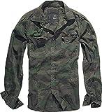 Brandit Camisa Ajustada Camisa camuflaje 'woodland' 4XL