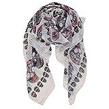 El Patrón De La Bufanda De Las Mujeres Del Cráneo Prints Mantón De Las Bufandas Wraps Ligera Suave Larga Infinity Wrap Bufandas