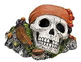 Nobby Adornos de Acuario de Calavera Pirata, 14,5 x 12,5 x 8,5 cm