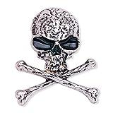 LUOEM Broche de Huesos de cráneo Broche de Esqueleto Punky gótico para Disfraz de Fiesta de Noche (Plata)