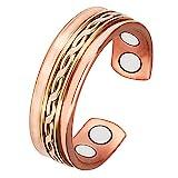 Wollet joyería anillo de cobre magnético para la artritis para hombres mujeres