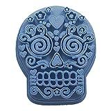 Cuticuter Halloween Calavera Mexican Cortador Galletas, Azul, 8x7x1.5 cm