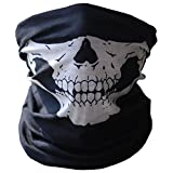 SOFIT SF-01 Skull Mask, Mascarilla Fantasma de Medio Cráneo Tubular Estirable, Motociclista de la Motocicleta Máscara, Bandana Balaclava Headwear