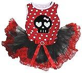 Petitebelle - Vestido para perro, diseño de calavera, color negro