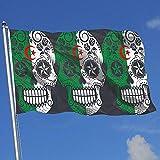 Bandera de decoración para Exteriores/Interiores Bandera de Argelia Calavera de azúcar 100% poliéster Banderas translúcidas de una Sola Capa 3X5 pies