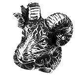 JINSHIYINYU joyería 316L Acero Inoxidable Vintage Negro Big Oveja Cabra Cabeza Calavera gótico Anillo