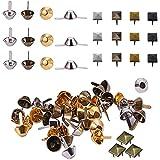 Mengger 300 piezas Tachuelas Pirámide para ropa Puntas de Metal Cuadrados Punk Square Pyramid Studs para Punk Rock Leather Craft Ropa Belt Bag Zapatos Mini Brads