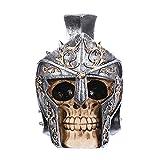 VOANZO Ancient Knight's Silver - Casco con diseño de calavera humana para Halloween Bar Decoración de mesa