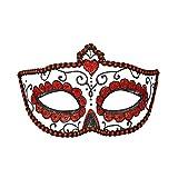WIDMANN vd-wdm03851Máscara Dia de los muertos, Negro/Rojo, talla única