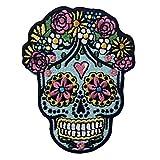 Parche termoadhesivo para la ropa, diseño de Cráneo del azúcar Dia de los Muertos