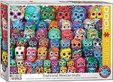 EuroGraphics- Traditional Mexican Skulls 1000-Piece Puzzle Rompecabezas de 1000 Piezas. (6000-5316)