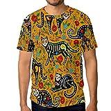 Camisetas para hombre con calavera de azúcar, color negro, flor de gatos, flores, personalizadas de verano, casual camisetas Multicolor multicolor XXL